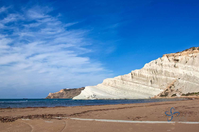 Der Strand von Scala dei Turchi   Agrigent   Sizilien