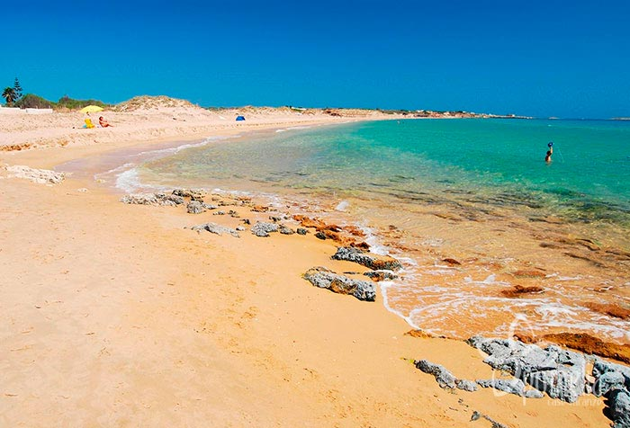 Strand Playa Carratois Sizilien